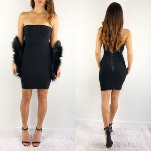 BCBGMAXAZRIA black Alyona strapless dress